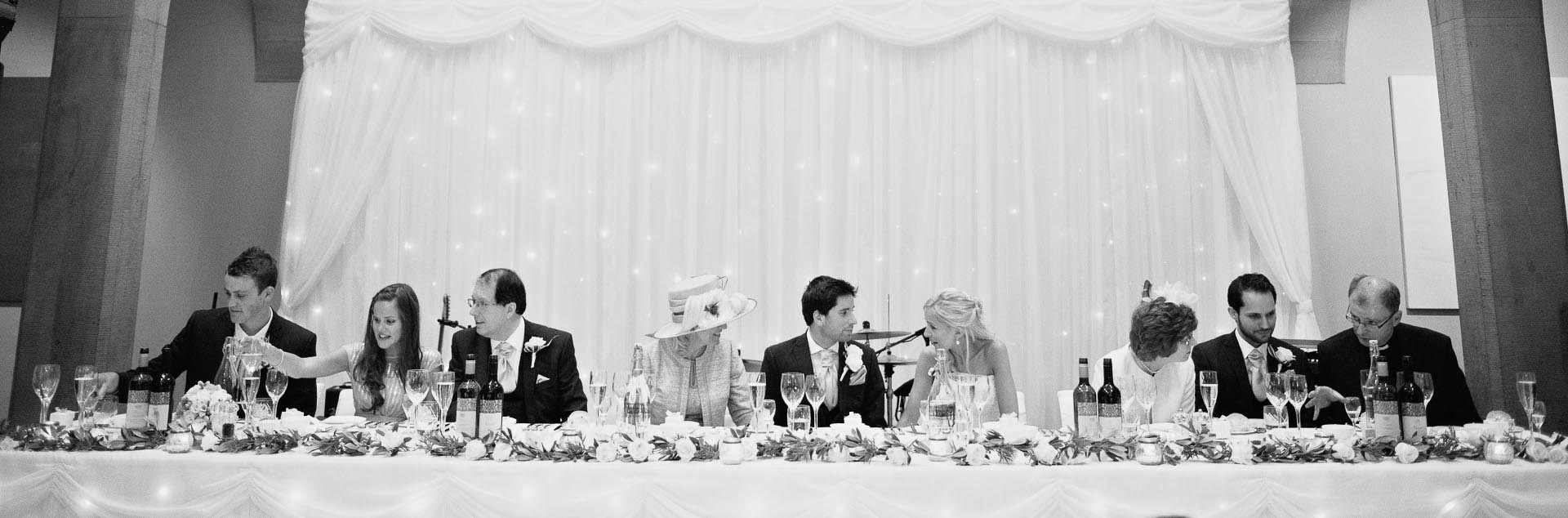 the top table at a chatsworth wedding